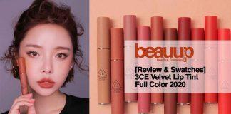 [Review & Swatches] 3CE Velvet Lip Tint 2020