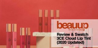 Review & Swatch 3CE Cloud Lip Tint (2020 Updated)